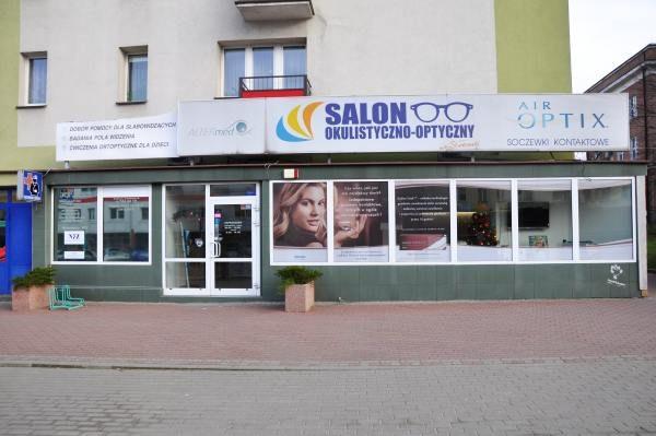 Front salonu optycznego w Białymstoku