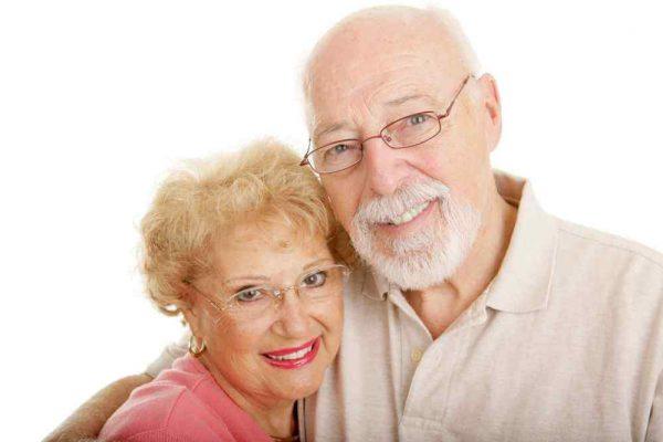 oprawki okularowe para seniorzy